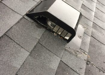 Roof vent chewed by raccoon Critter Control Triad Animal Exclusion Greensboro